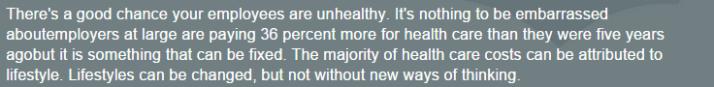 keas a good chance of unhealthy