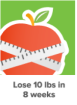Lose ten pounds in eight weeks
