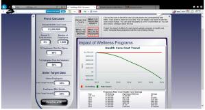 Wellsteps' calculation tool