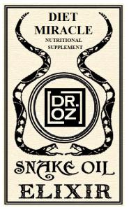 Dr. oz snake oil elixir