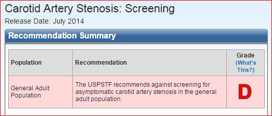 Carotid stenosis D