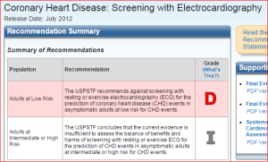 ECG screening D