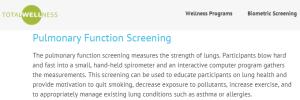 total wellness pulmonary function