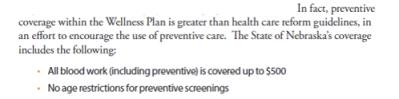 nebraska screening guidelines