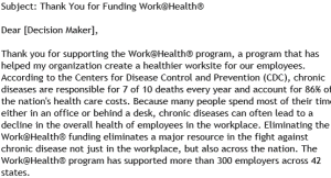 wellness lobbying letter